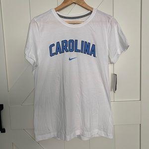 Nike Carolina T Shirt, White/Blue